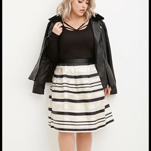 Forever 21 Striped Organza Skirt 1X